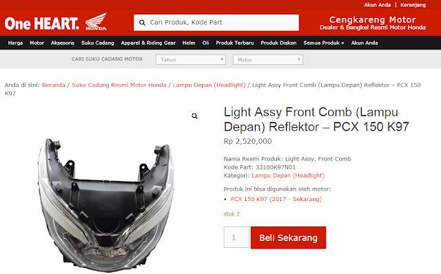 Harga Lampu Depan LED PCX 150