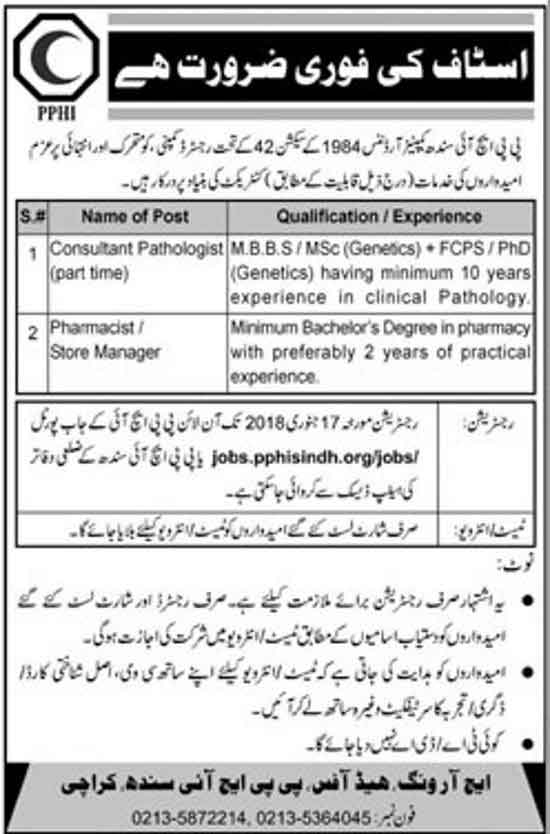 Peoples Primary Healthcare Initiative Sindh PPHI jobs