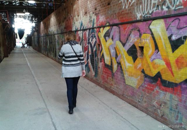 Graffitis sur les murs de l'ancienne usine de Ever Green Bricks Works