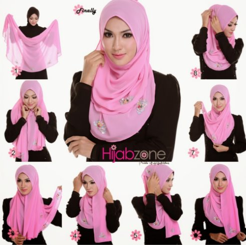 15+ Tutorial Hijab Segi Empat untuk Wajah Bulat dan Pipi Tembem Agar Terlihat Cantik