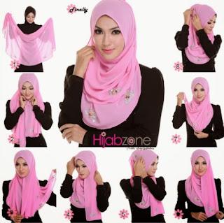 Tutorial hijab segi empat wajah bulat minimalis