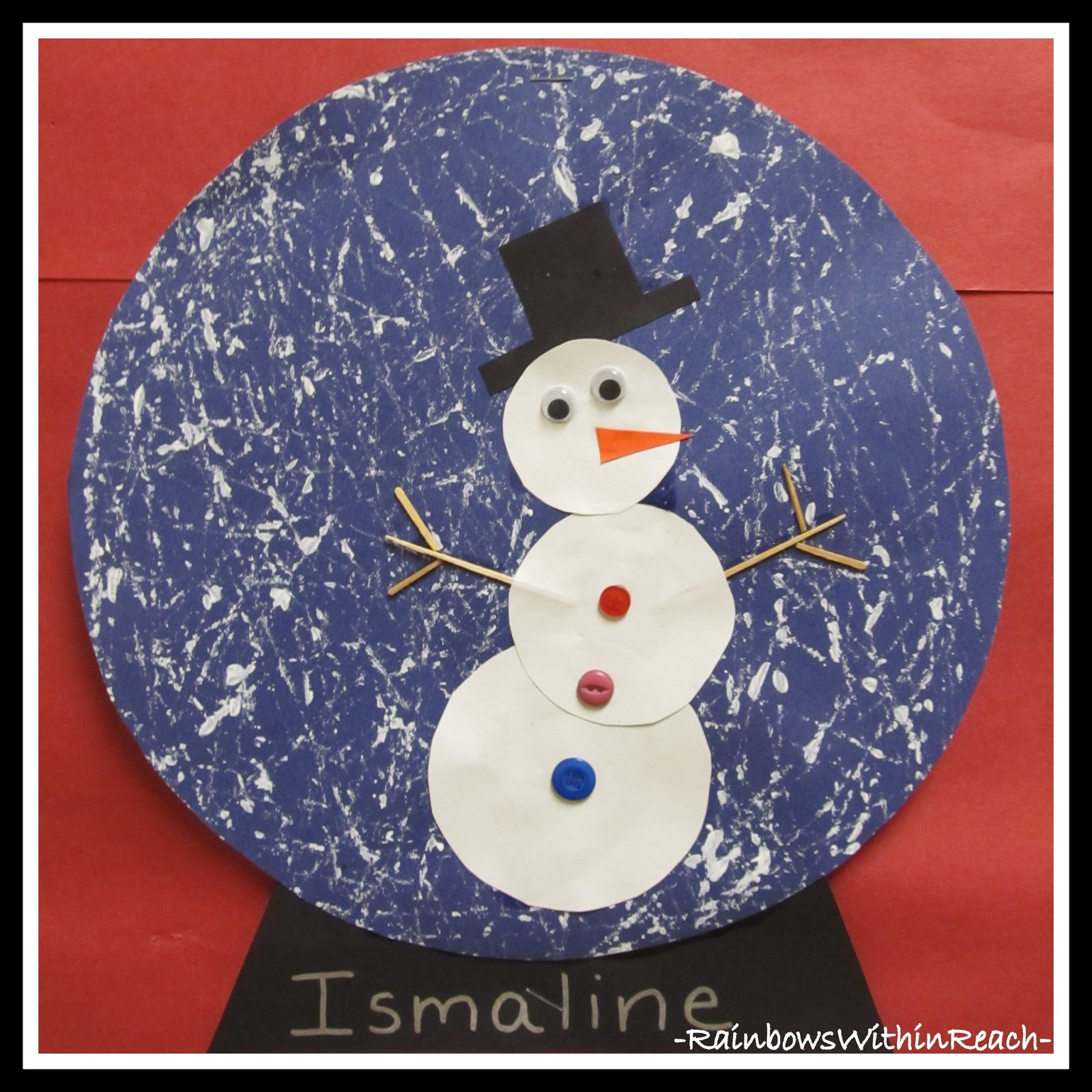 Snowman In A Snow Globe Winter Art Project Drseussprojects