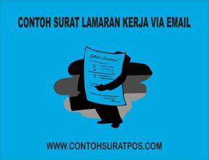 Gambar untuk Contoh Surat Lamaran Kerja Via Email Beserta Lampirannya