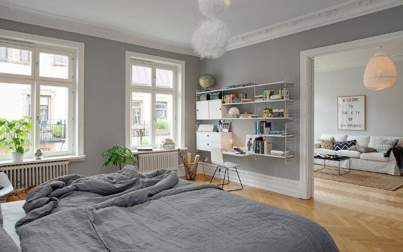 estilo paredes puertas y zcalo blanco y suelo de madera gris sta es una de las estrella y la ms a la hora de