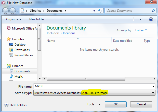 Membuat Database Access (.mdb)