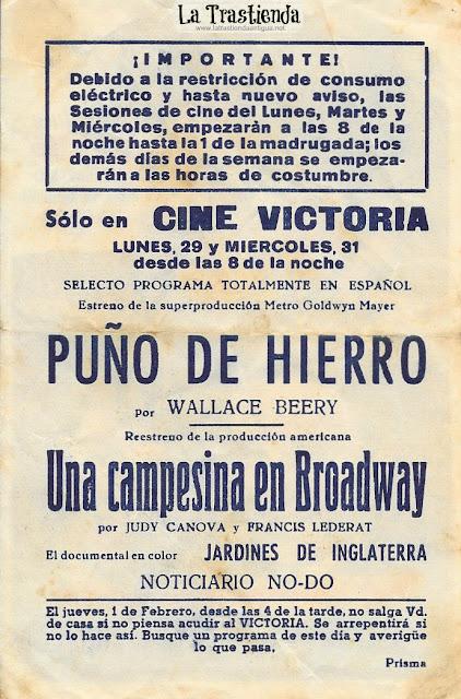 Puño de Hierro - Programa de Cine - Wallace Beery - Leo Carrillo