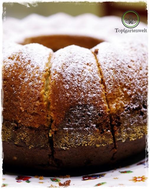 Gartenblog Topfgartenwelt Food-Fotografie: Mamorkuchen angeschnitten