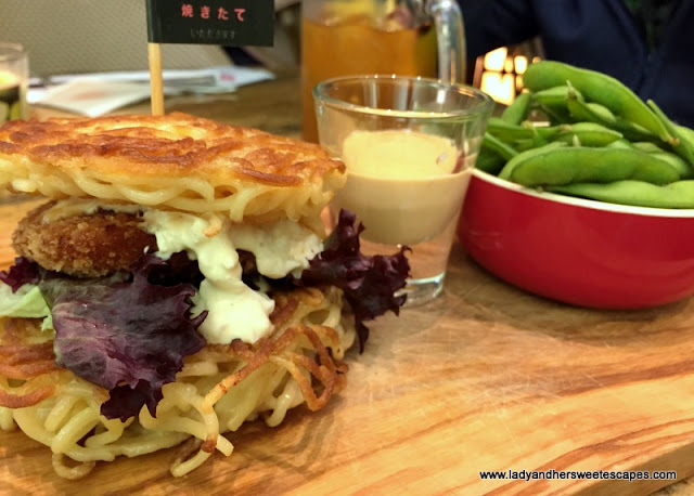 Ramen burger at Yakitate Dubai