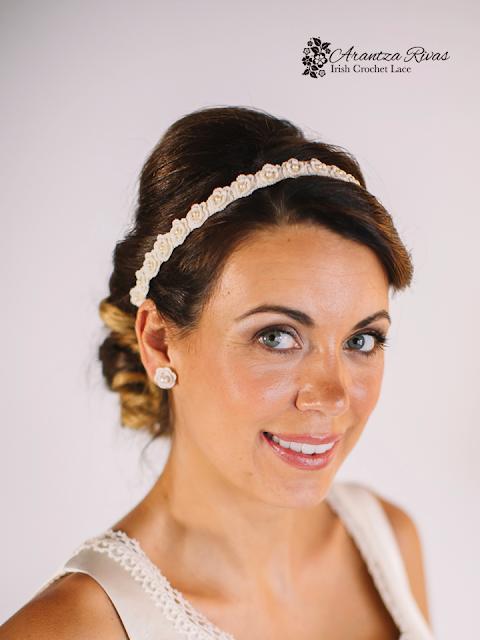 Pendientes y diadema para novias