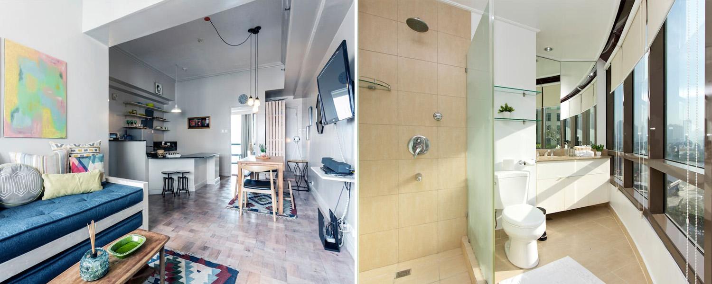 Salle De Bain Pierre Travertin ~ Air Bnb Bath Design La Maison