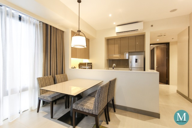 Dining Table, One-Bedroom Deluxe Apartment at Somerset Alabang Manila