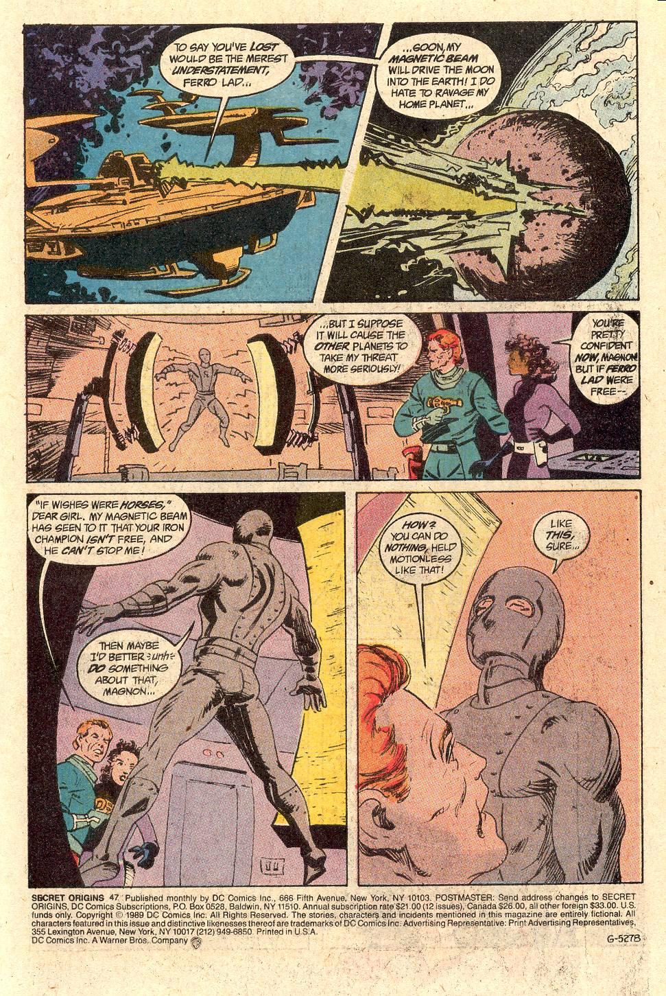 Read online Secret Origins (1986) comic -  Issue #47 - 2