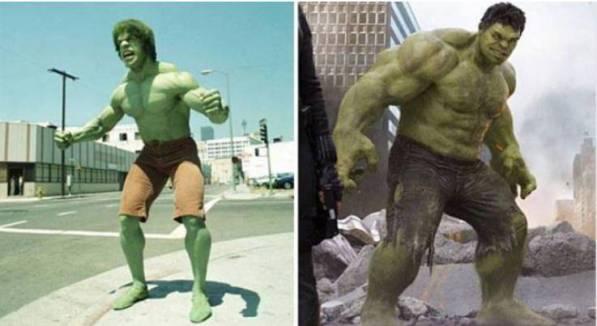 Perbedaan Penampilan Hulk jaman dulu dan sekarang