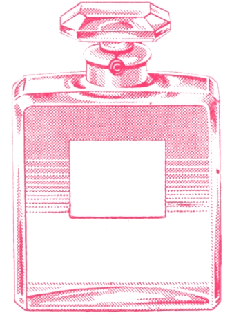 Sweetly Scrapped Vintage Chanel Ad Clipart And Perfume Bottle