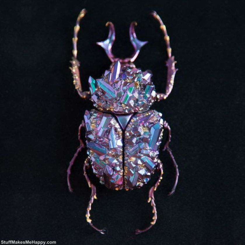 6. Bugs created with a 3D printer by French sculptor Nozomi