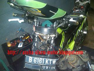 Cara pasang alarm motor pada Kawasaki Athlet