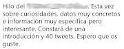¿Hilo de 40 tweets?