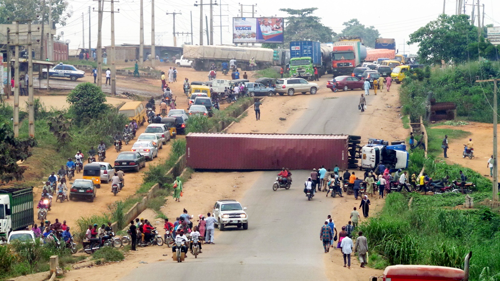 container accident ikorodu lagos