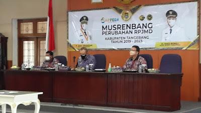 Bupati Tangerang Buka Musrenbang Perubahan RPJMD 2019-2023 Secara Virtual