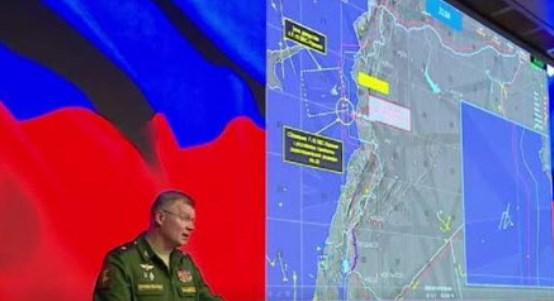 """بالفيديو:الدفاع الروسية تكشف تفاصيل إسقاط طائرة """"إيل-20"""" في سوريا.وتحمل إسرائيل المسؤولية"""