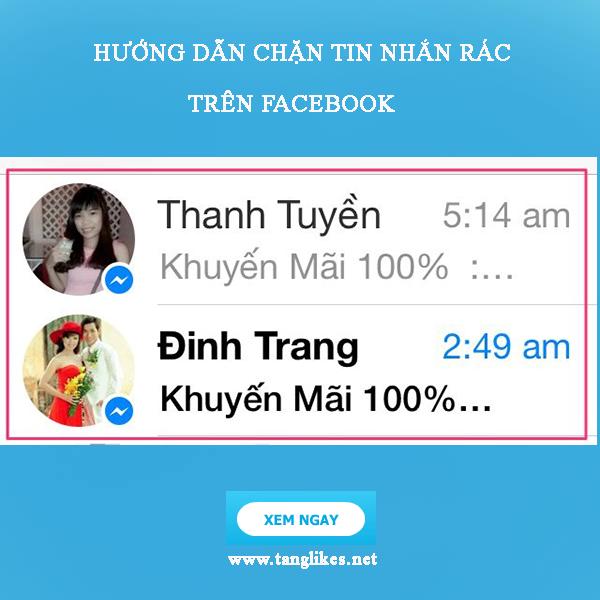 chặn tin nhắn trên facebook