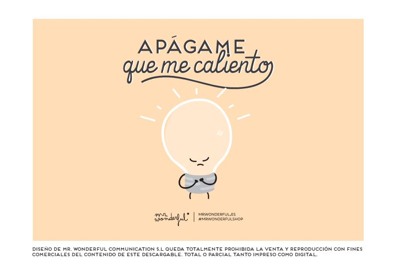 Descargable Mr Wonderful Apágame que me caliento