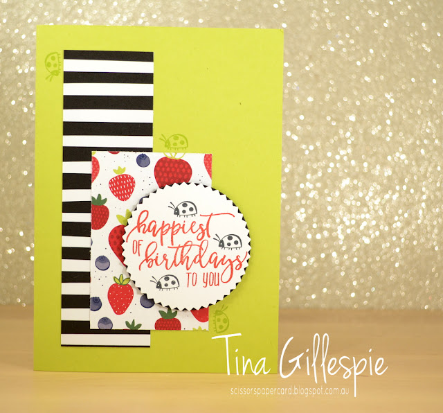 scissorspapercard, Stampin' Up!, Picture Perfect Birthday, Sharing Sweet Thoughts, Tutti-Frutti DSP