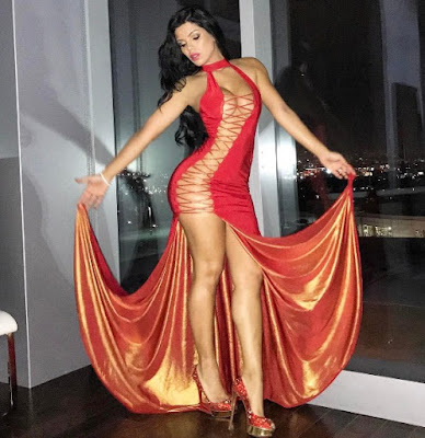 Suelyn Medeiros in red sexy dress