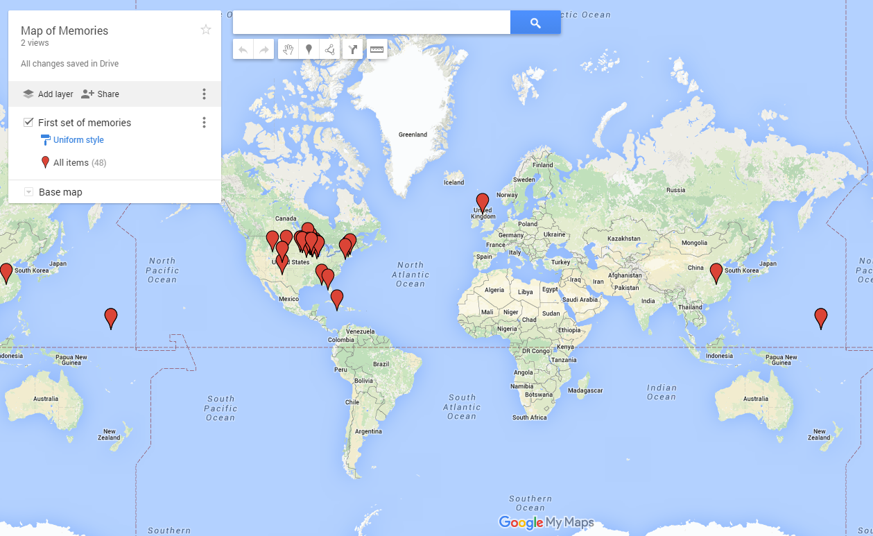 Free Technology For Teachers How To Map Spreadsheet Data In Google - Map my data