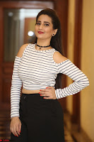 Manjusha in sleevelss crop top and black skirt at Darshakudu pre release ~  Exclusive Celebrities Galleries 072.JPG