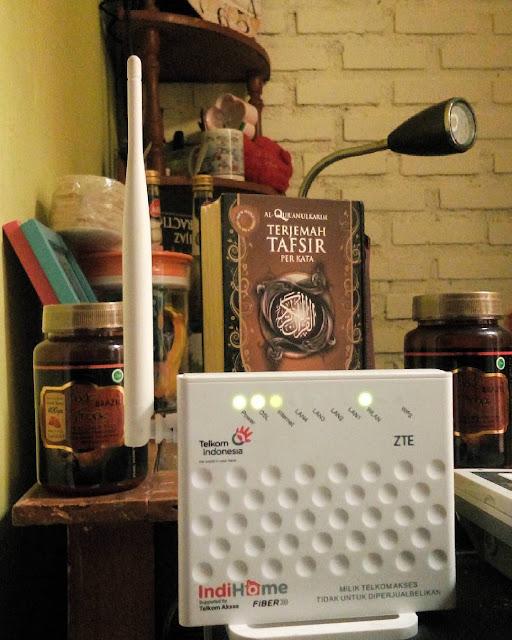 Modem ADSL Telkom Speedy WiFi Wireless ZTE ZXHN H108N