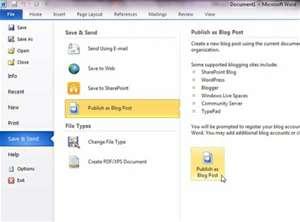Microsoft Office 2010 দিয়ে  blogging করি । যারা না জানেন শুধুমাত্র তাদের জন্য....>>>>>> | Techtunes Microsoft Office 2010 দিয়ে blogging করি