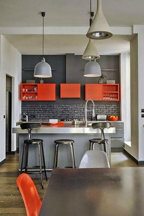 Muebles De Cocina En Dos Colores Decoracion - Muebles-de-cocina-de-colores