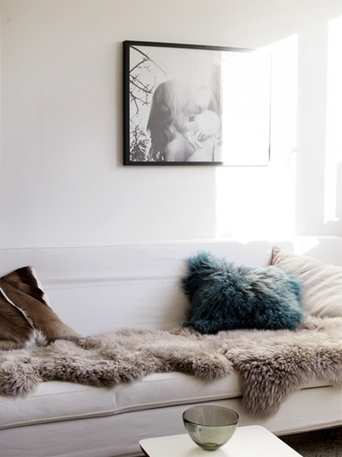 Bohemian Living Room Grey Couch