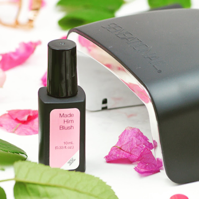 Lovelaughslipstick Blog - SensatioNail Gel Express Nail Polish Made Him Blush Starter Kit Review