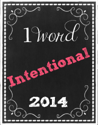 My One Word for 2014