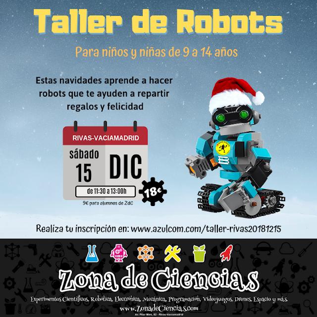 Taller de robots en Rivas el 15 de diciembre