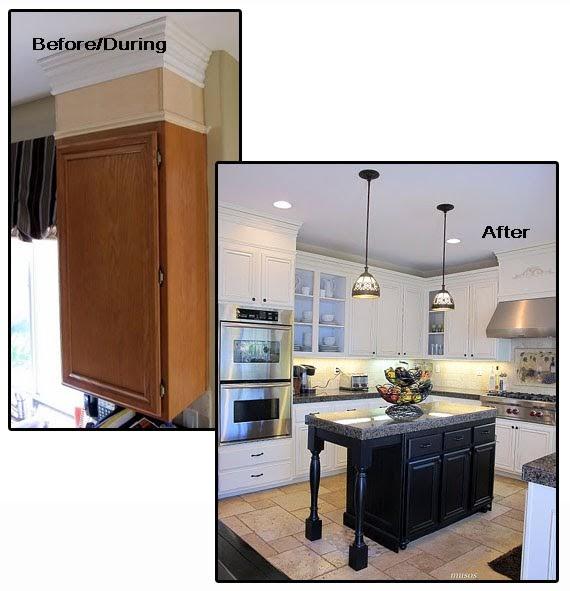 Kitchen Cabinet Crown Molding Installation: The Secret To Having It All......: Crown Molding {Kitchen
