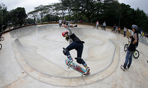 Pista de skate Bowl do Parque Chácara do Jockey