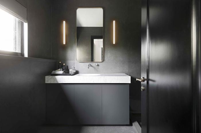 Thiết kế nội thất căn hộ chung cư 150m2 với hai màu đen trắng- 12