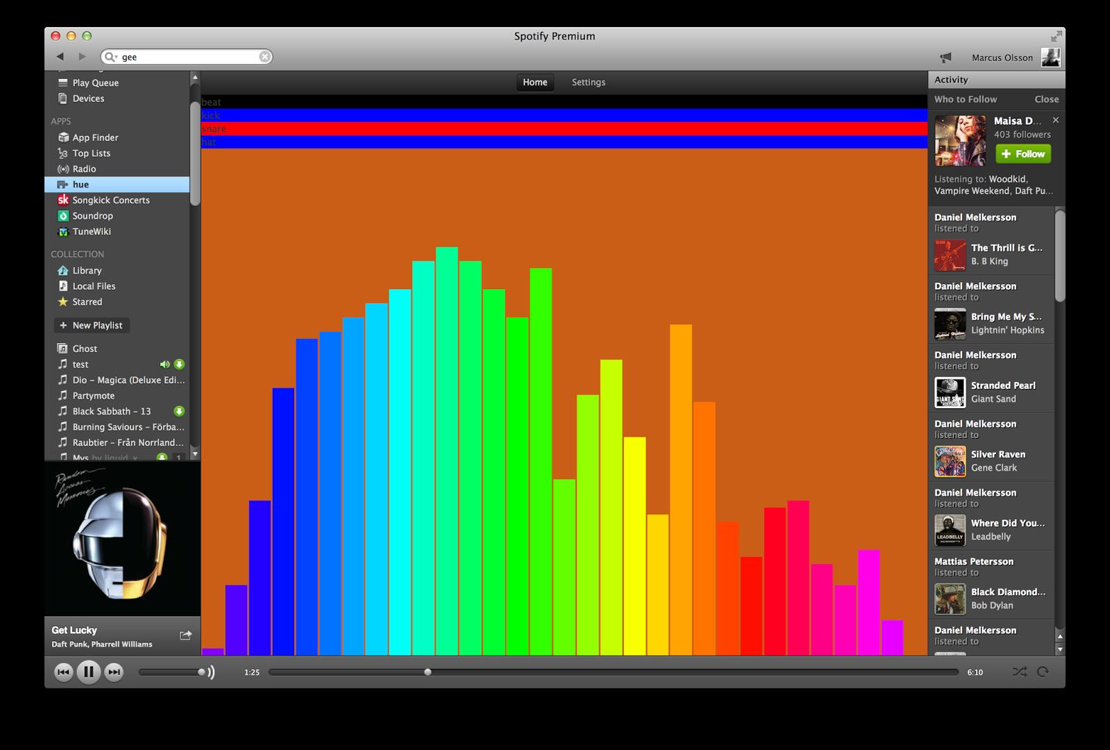 slickstreamer: Led stripe music visualiser  #spotify