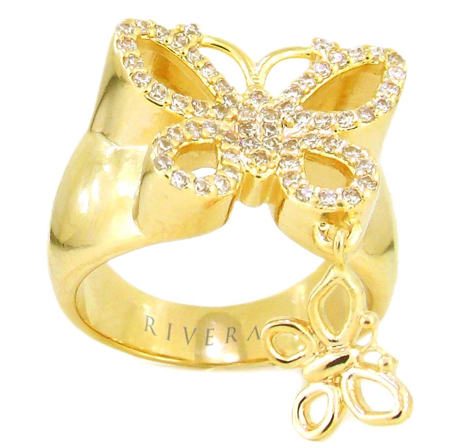 anel semi joia borboleta