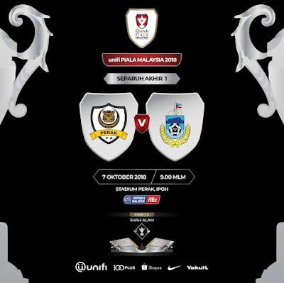 Live Streaming Perak vs Sabah Piala Malaysia 7.10.2018