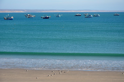 Fishing boats anchored in Scorpion Bay