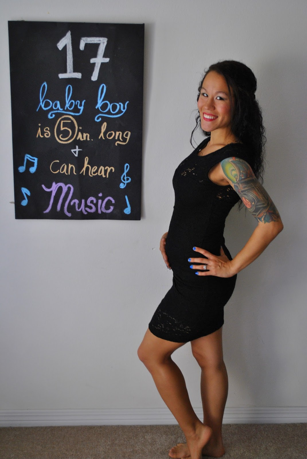 Update 17 Year Old Hartland Boy Located And Safe: Diary Of A Fit Mommy: 17 Week Pregnancy Chalkboard Update