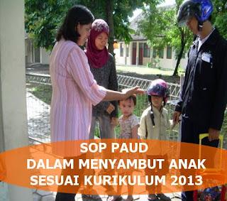 Contoh SOP Penyambutan Anak PAUD/TK/RA/KB/TPA Kurikulum 2013