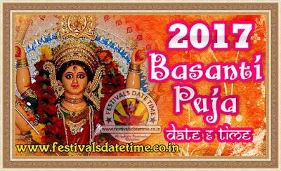 2017 Basanti Puja Date & Time in India