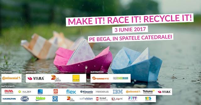 Concurs inedit cu ambarcațiuni din materiale reciclabile, pe Bega la a doua editie