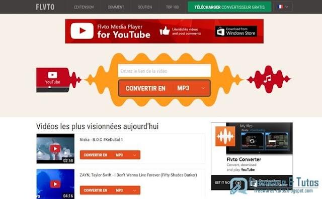 FLVTO : un service en ligne de conversion de vidéos en MP3, MP4 et AVI