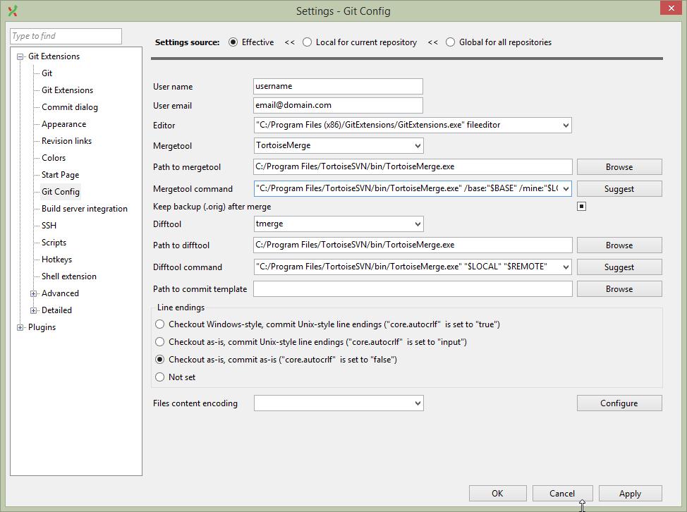Anro Rathod - Microsoft Net Consultant: GitExtension Settings